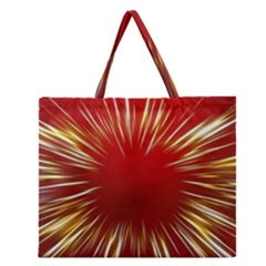 Color Gold Yellow Background Zipper Large Tote Bag