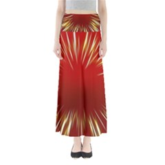 Color Gold Yellow Background Maxi Skirts