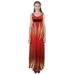 Color Gold Yellow Background Empire Waist Maxi Dress