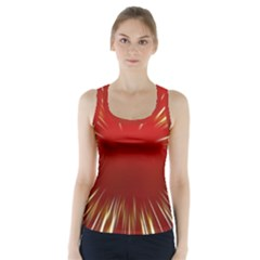 Color Gold Yellow Background Racer Back Sports Top