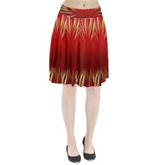 Color Gold Yellow Background Pleated Skirt