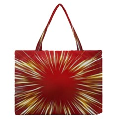 Color Gold Yellow Background Medium Zipper Tote Bag