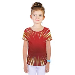 Color Gold Yellow Background Kids  One Piece Tee