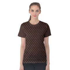 Fabric Pattern Texture Background Women s Cotton Tee