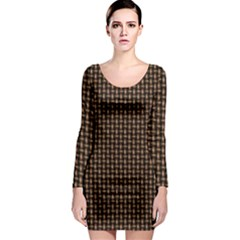 Fabric Pattern Texture Background Long Sleeve Bodycon Dress
