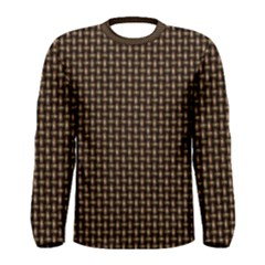 Fabric Pattern Texture Background Men s Long Sleeve Tee