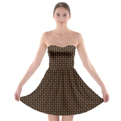Fabric Pattern Texture Background Strapless Bra Top Dress