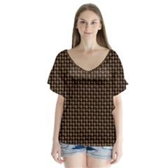 Fabric Pattern Texture Background Flutter Sleeve Top