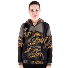 Fractal Mathematics Abstract Women s Zipper Hoodie