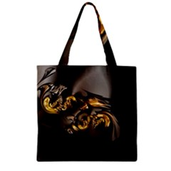 Fractal Mathematics Abstract Zipper Grocery Tote Bag