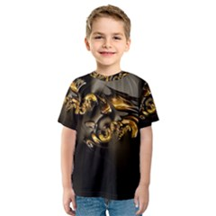 Fractal Mathematics Abstract Kids  Sport Mesh Tee