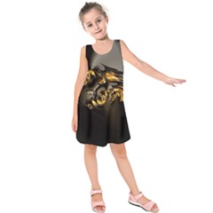 Fractal Mathematics Abstract Kids  Sleeveless Dress