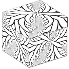 Fractal Symmetry Pattern Network Storage Stool 12