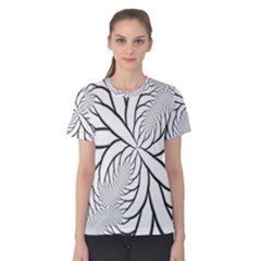 Fractal Symmetry Pattern Network Women s Cotton Tee