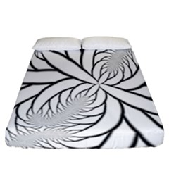 Fractal Symmetry Pattern Network Fitted Sheet (california King Size)