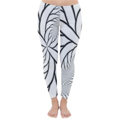 Fractal Symmetry Pattern Network Classic Winter Leggings