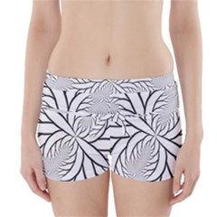 Fractal Symmetry Pattern Network Boyleg Bikini Wrap Bottoms