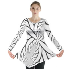 Fractal Symmetry Pattern Network Long Sleeve Tunic