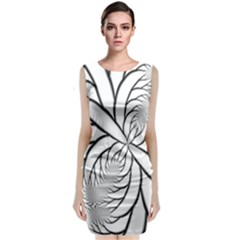 Fractal Symmetry Pattern Network Classic Sleeveless Midi Dress