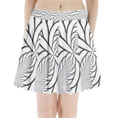 Fractal Symmetry Pattern Network Pleated Mini Skirt