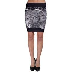 Kringel Circle Flowers Butterfly Bodycon Skirt