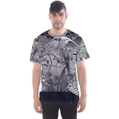 Kringel Circle Flowers Butterfly Men s Sport Mesh Tee