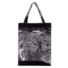 Kringel Circle Flowers Butterfly Classic Tote Bag