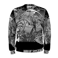 Kringel Circle Flowers Butterfly Men s Sweatshirt