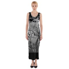 Kringel Circle Flowers Butterfly Fitted Maxi Dress