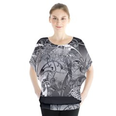 Kringel Circle Flowers Butterfly Blouse