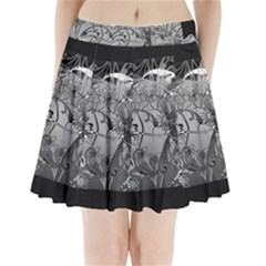 Kringel Circle Flowers Butterfly Pleated Mini Skirt
