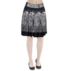 Kringel Circle Flowers Butterfly Pleated Skirt