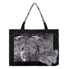 Kringel Circle Flowers Butterfly Medium Tote Bag