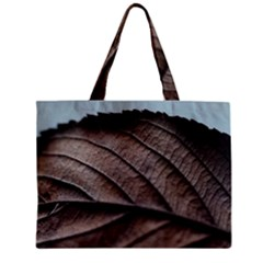 Leaf Veins Nerves Macro Closeup Zipper Mini Tote Bag