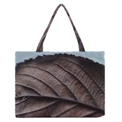 Leaf Veins Nerves Macro Closeup Medium Zipper Tote Bag