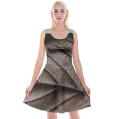 Leaf Veins Nerves Macro Closeup Reversible Velvet Sleeveless Dress
