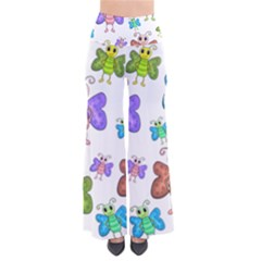 Colorful, cartoon style butterflies Pants