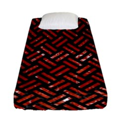 Woven2 Black Marble & Red Marble Fitted Sheet (single Size)