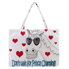 Don t Wait For Prince Sharming Medium Zipper Tote Bag