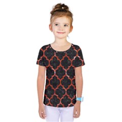 Tile1 Black Marble & Red Marble Kids  One Piece Tee