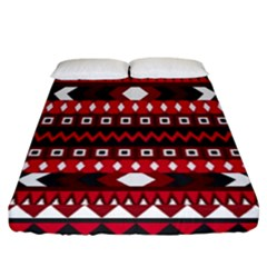 Asterey Red Pattern Fitted Sheet (california King Size)