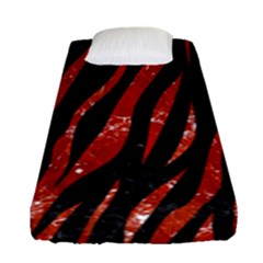 Skin3 Black Marble & Red Marble Fitted Sheet (single Size)