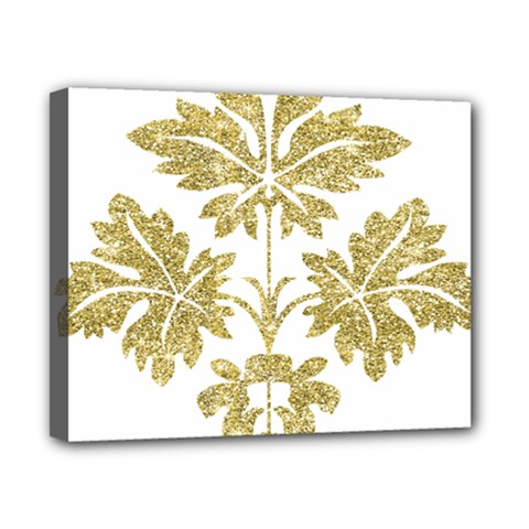 Gold Authentic Silvery Pattern Canvas 10  x 8