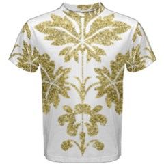 Gold Authentic Silvery Pattern Men s Cotton Tee
