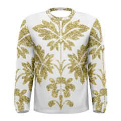 Gold Authentic Silvery Pattern Men s Long Sleeve Tee
