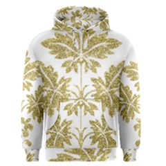 Gold Authentic Silvery Pattern Men s Pullover Hoodie