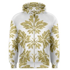Gold Authentic Silvery Pattern Men s Zipper Hoodie