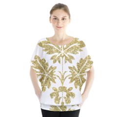 Gold Authentic Silvery Pattern Blouse