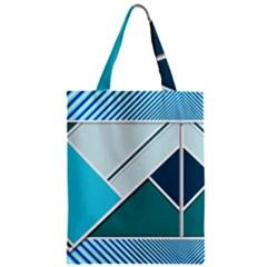 Logo Concept Banner Header Idea Zipper Classic Tote Bag