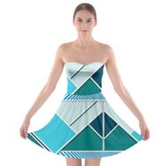 Logo Concept Banner Header Idea Strapless Bra Top Dress